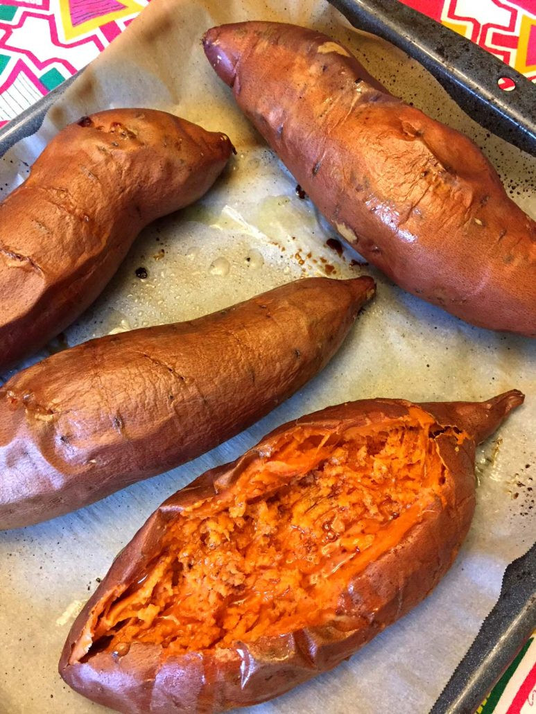 Baked Sweet Potato Microwave  Perfect Oven Baked Sweet Potatoes Recipe – Melanie Cooks
