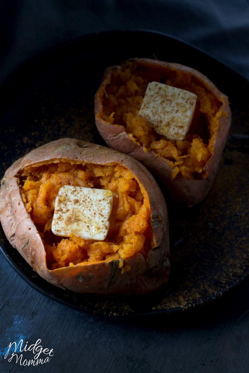 Baked Sweet Potato Microwave  Easy & Delicious Microwave Baked Sweet Potato