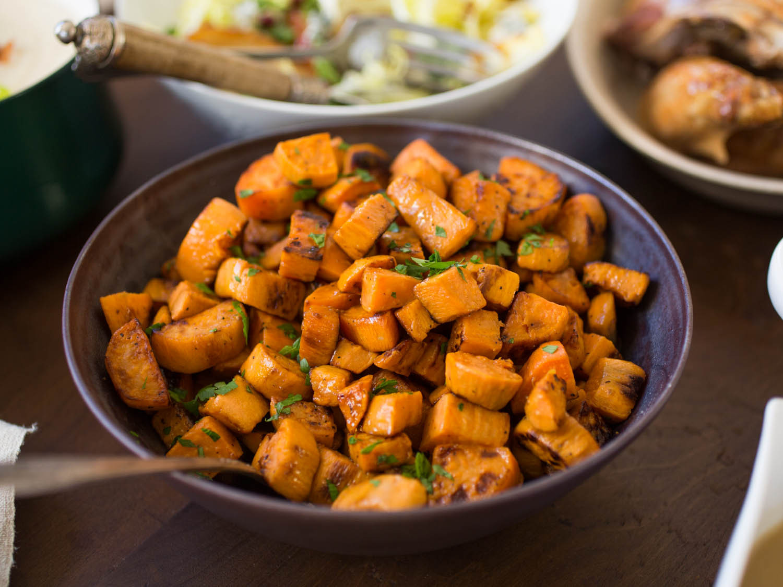 Baked Sweet Potato Recipes  Roasted Sweet Potatoes With Caramelized ions Recipe