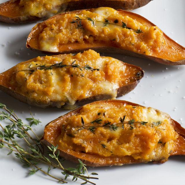 Baked Sweet Potato Recipes  twice baked sweet potatoes