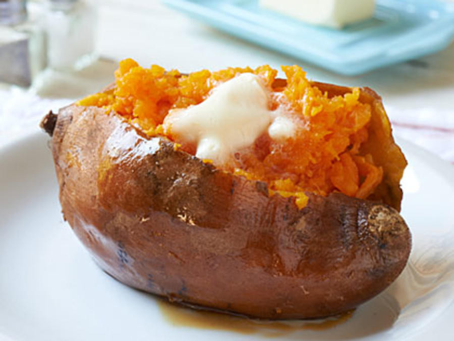 Baked Sweet Potato  how to bake sweet potatoes in foil