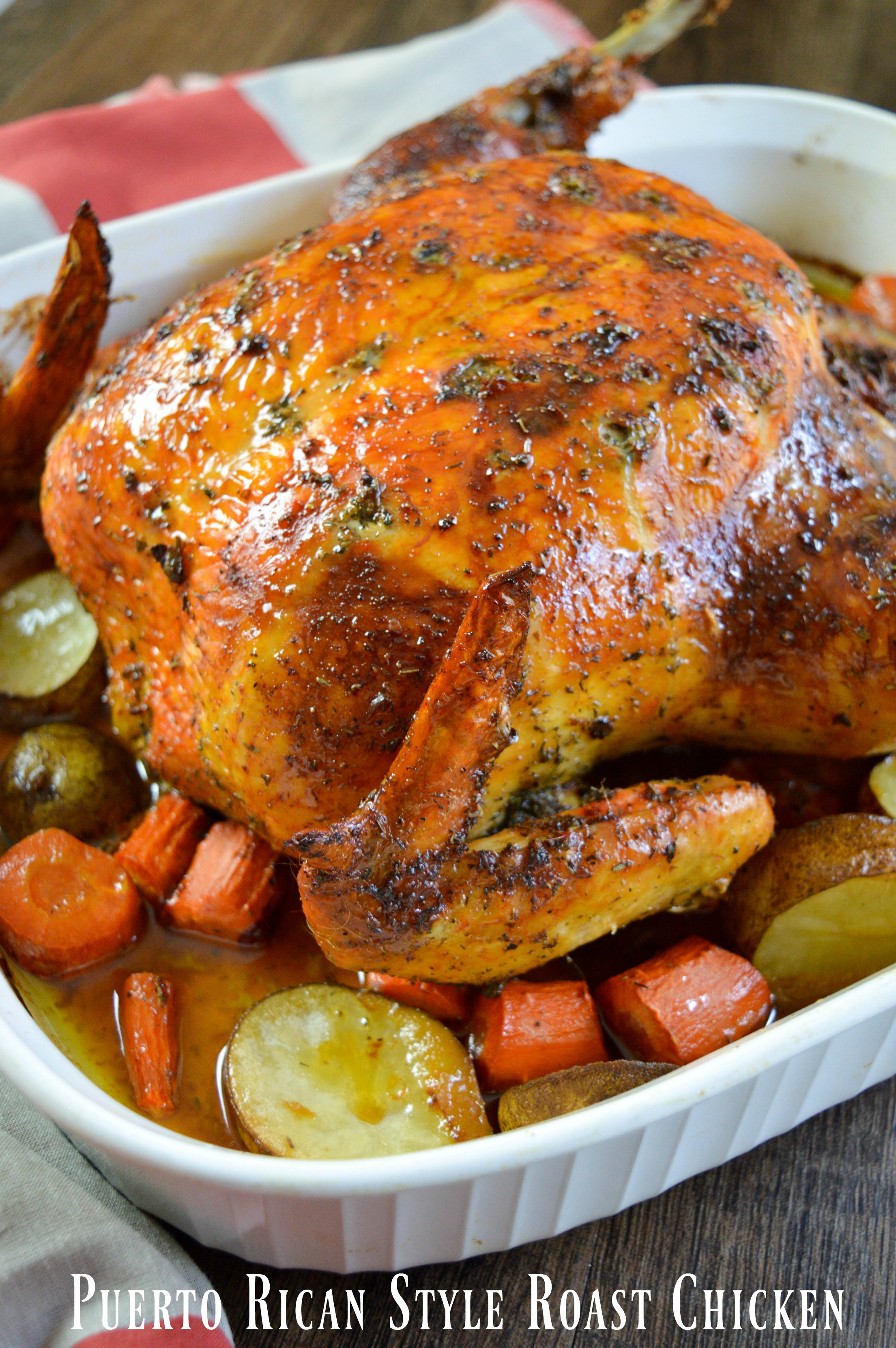 Baking A Whole Chicken  Puerto Rican Style Whole Roasted Chicken Recipe