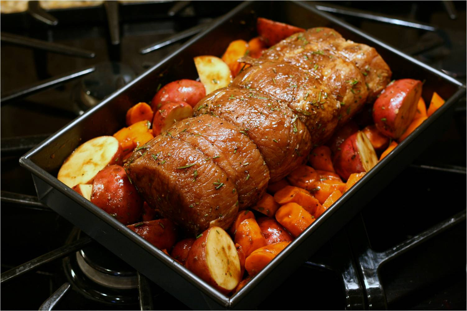 Baking Pork Loin  Olive This – Recipe Fig Balsamic and Rosemary Roasted