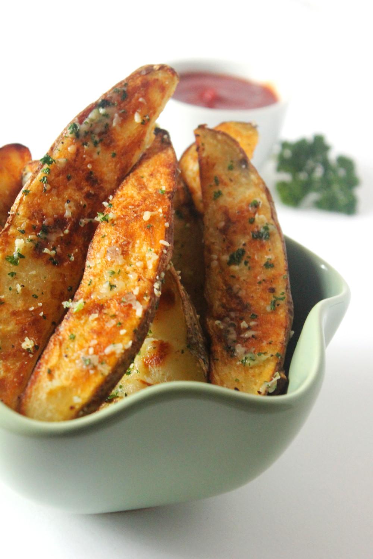 Baking Potato Wedges  Garlic Parmesan Baked Potato Wedges