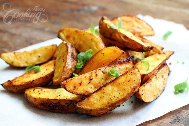 Baking Potato Wedges  Baked Potato Wedges Home Cooking Adventure
