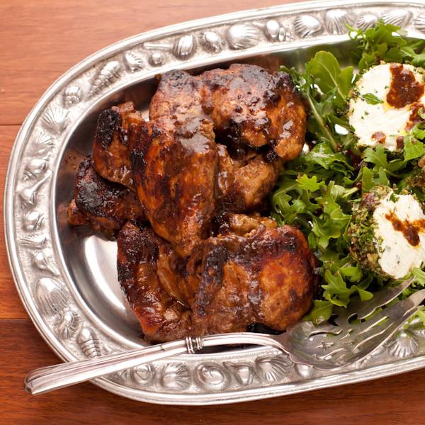 Balsamic Chicken Thighs  Fig balsamic glazed chicken thighs
