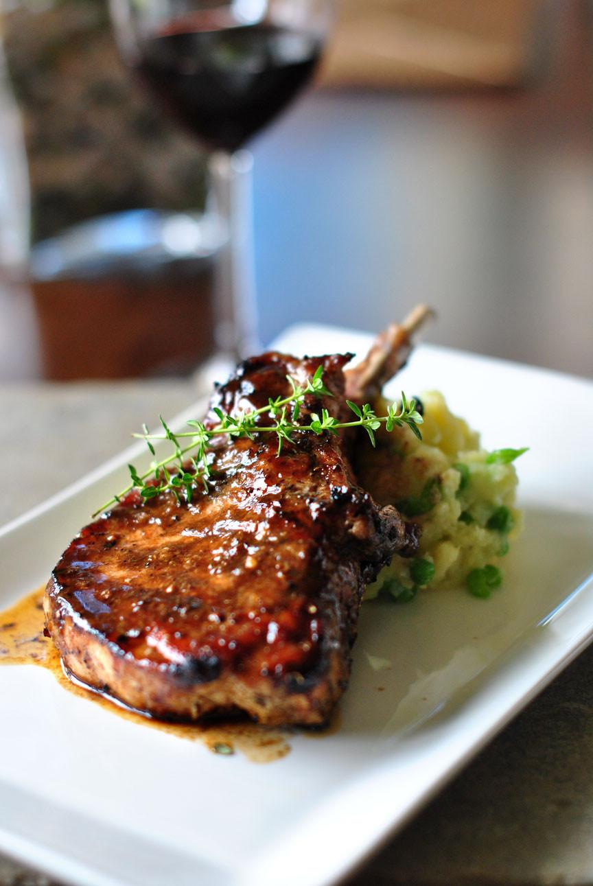 Balsamic Pork Chops  Pork Chop with Balsamic Maple Glaze