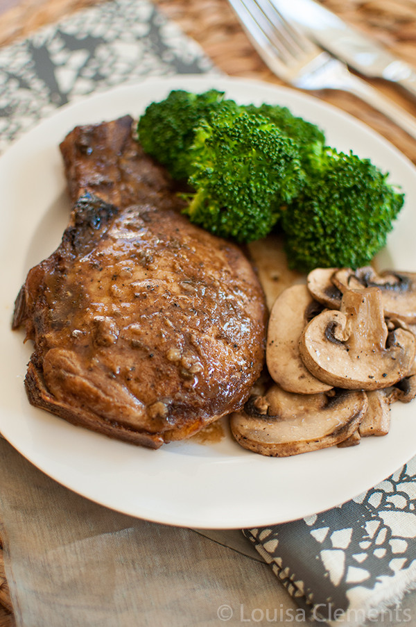 Balsamic Pork Chops  Balsamic and Sage Glazed Pork Chops — Living Lou