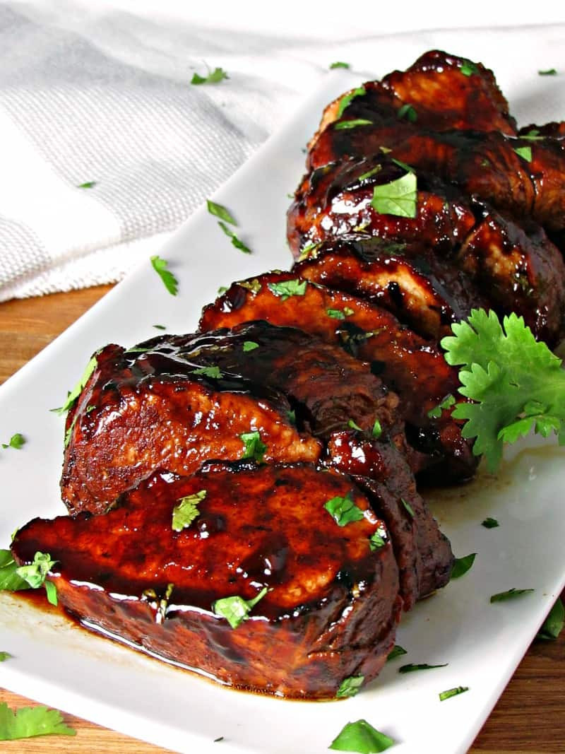 Balsamic Pork Tenderloin  Honey Balsamic Pork Tenderloin recipe from A Gouda Life