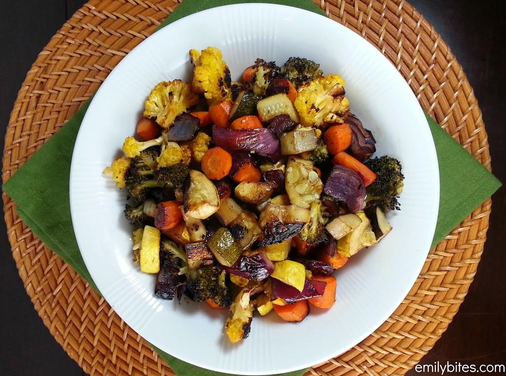 Balsamic Roasted Vegetables  Balsamic Roasted Ve ables Emily Bites