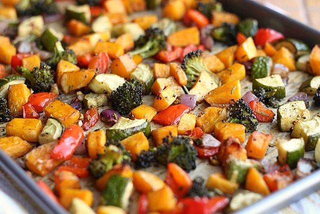 Balsamic Roasted Vegetables  Balsamic Rosemary Roasted Ve ables Vegan Grain Free