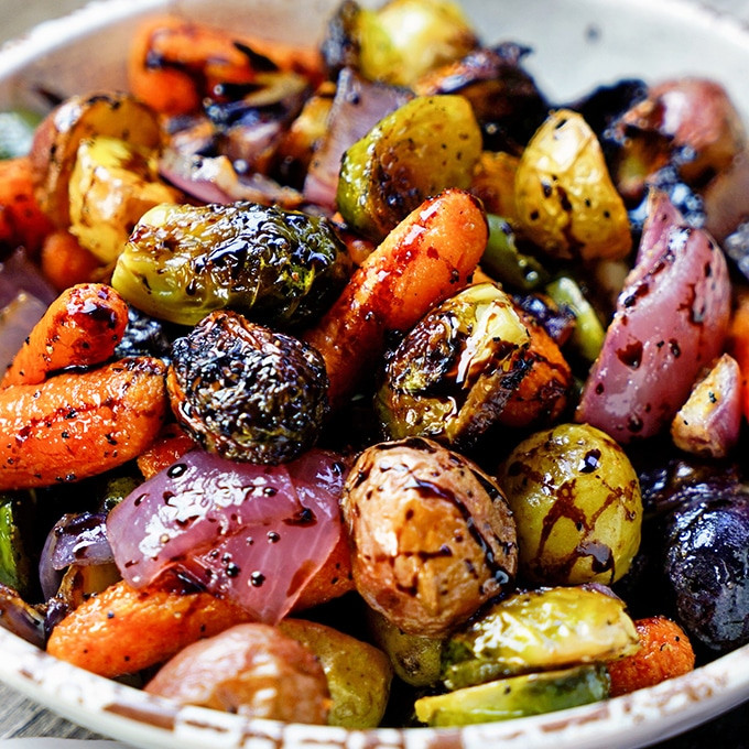 Balsamic Roasted Vegetables  Easy Roasted Ve ables with Honey and Balsamic Syrup