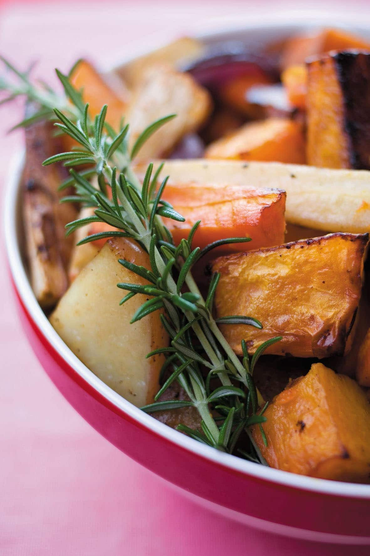 Balsamic Roasted Vegetables  Balsamic roasted ve ables with rosemary Healthy Food Guide