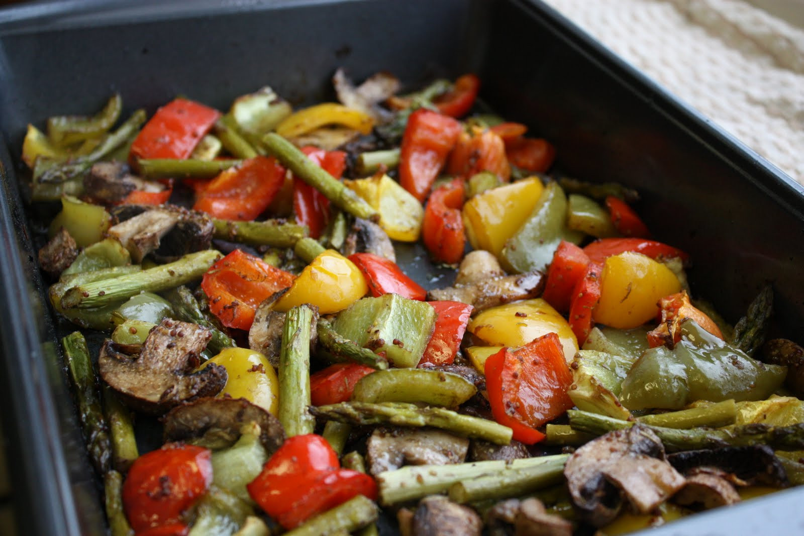 Balsamic Roasted Vegetables  Balsamic Dijon Roasted Ve ables Get f Your Tush and