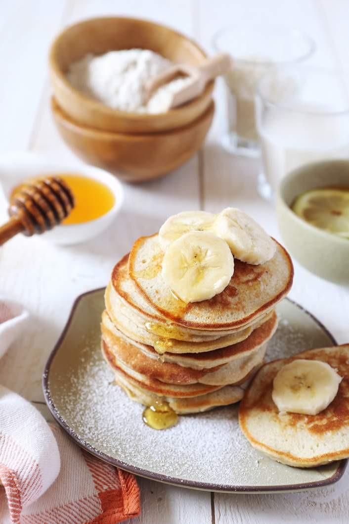 Banana And Egg Pancakes  Three Ingre nt Banana and Egg Pancakes Slender Kitchen