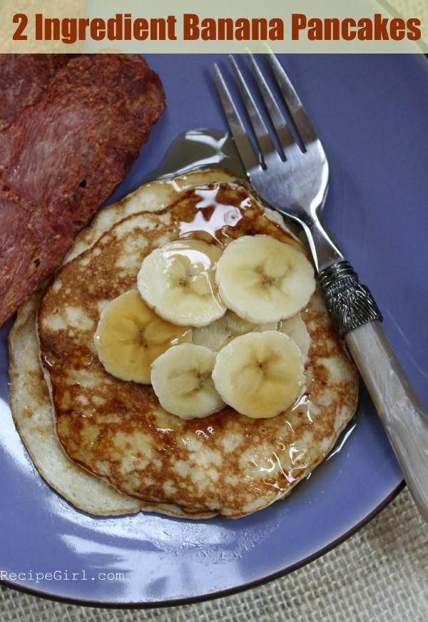 Banana And Egg Pancakes  2 Ingre nt Pancakes