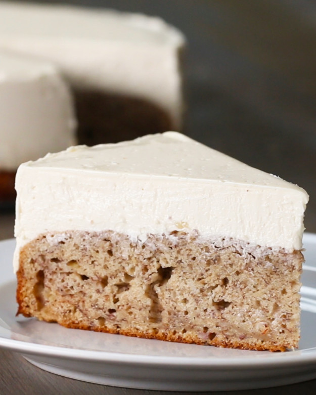 Banana Bread Cheesecake  Banana Bread Bottom Cheesecake