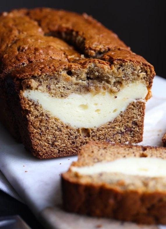 Banana Bread Cheesecake  Cheesecake Stuffed Banana Bread Cookies and Cups