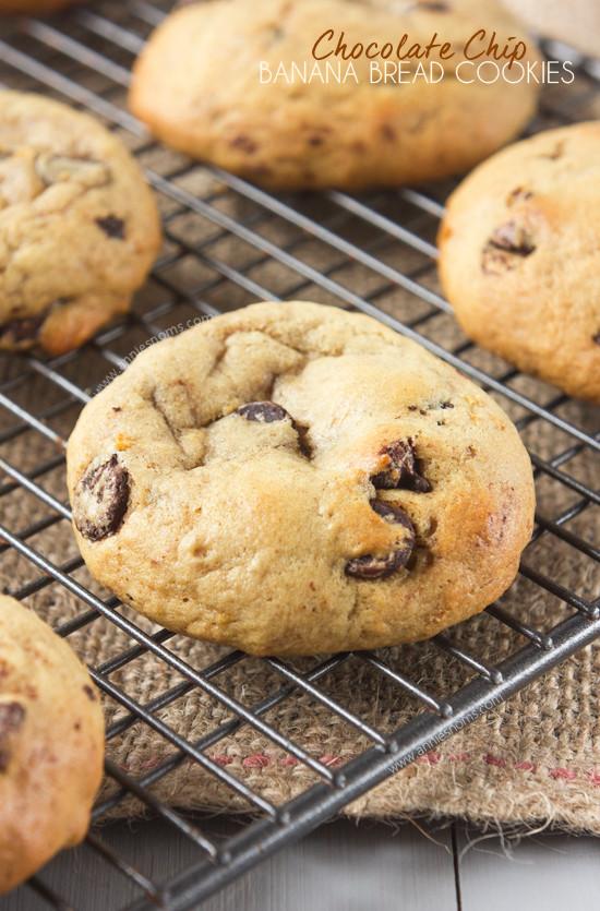 Banana Bread Cookies  Chocolate & Banana Cookies REASONS TO SKIP THE HOUSEWORK