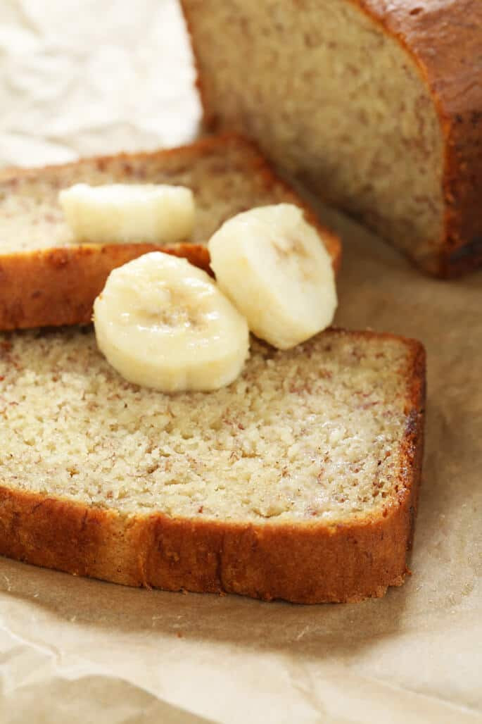 Banana Bread Gluten Free  Easy Gluten Free Banana Bread with a rice flour blend and