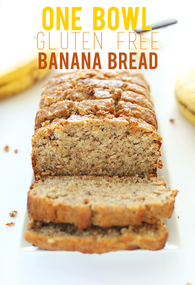 Banana Bread Gluten Free  1 Bowl Gluten Free Banana Bread