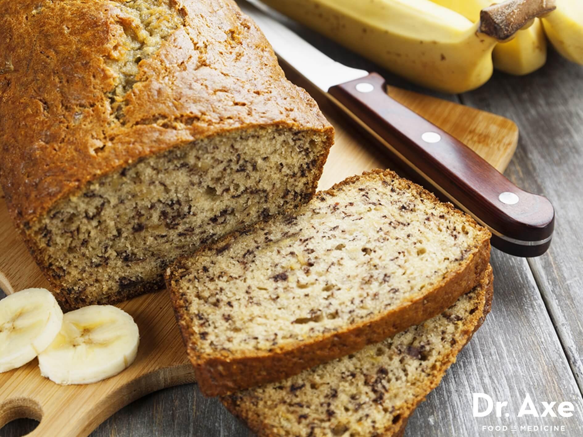 Banana Bread Gluten Free  Gluten Free Banana Bread Recipe DrAxe