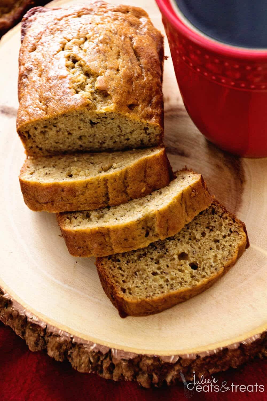 Banana Bread Healthy  Healthy Banana Bread Recipe Julie s Eats & Treats