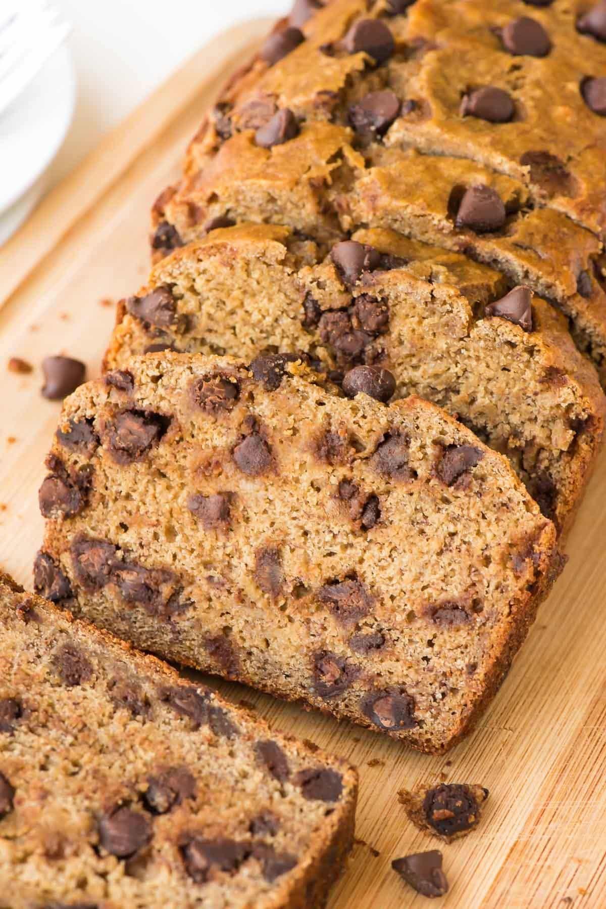Banana Bread Healthy  Healthy Banana Bread Recipe with Chocolate Chips