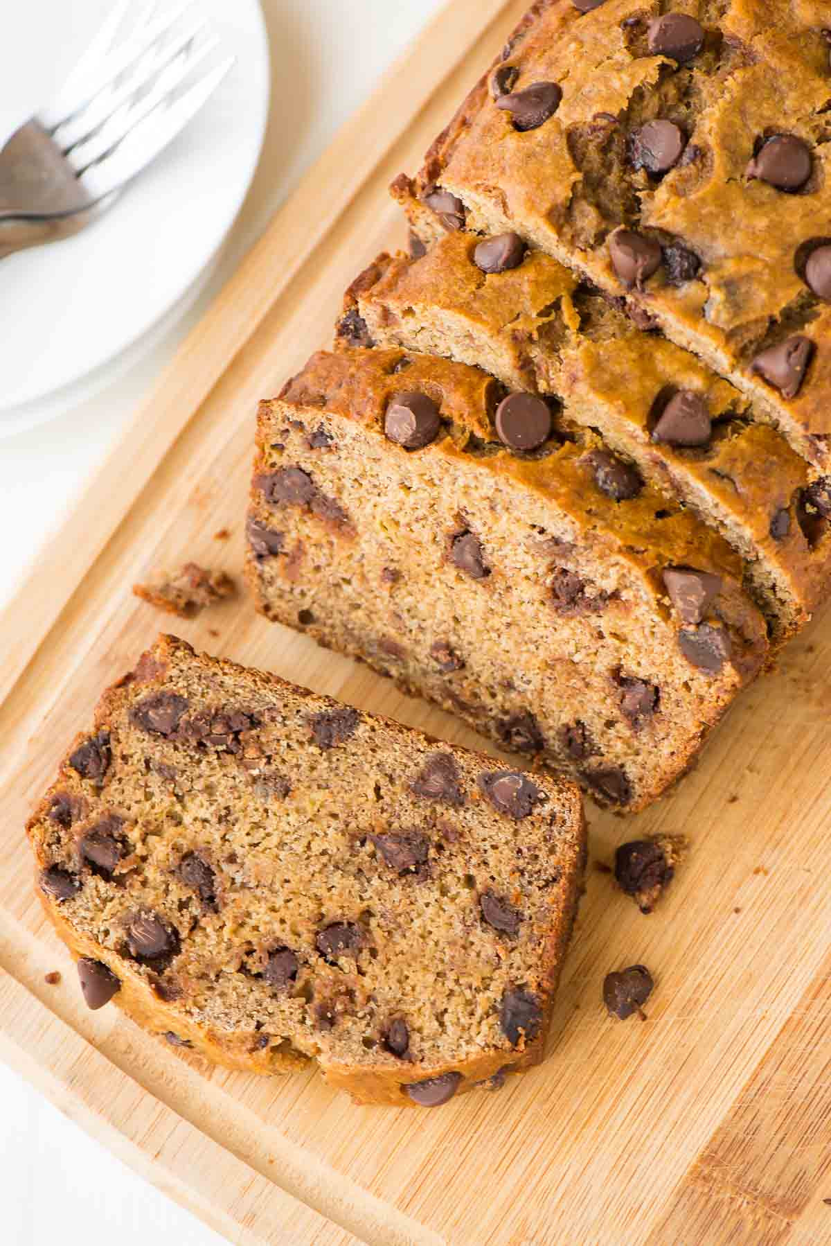 Banana Bread Ingredients  Healthy Banana Bread Recipe with Chocolate Chips