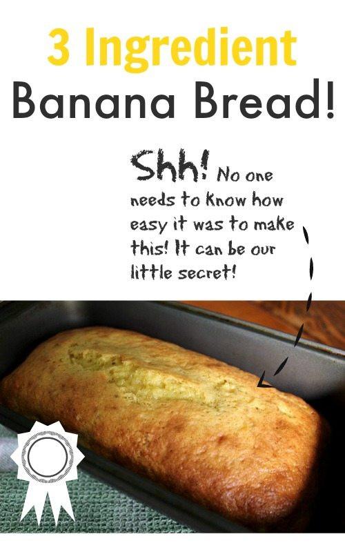 Banana Bread Ingredients  Easy 3 Ingre nt Banana Bread