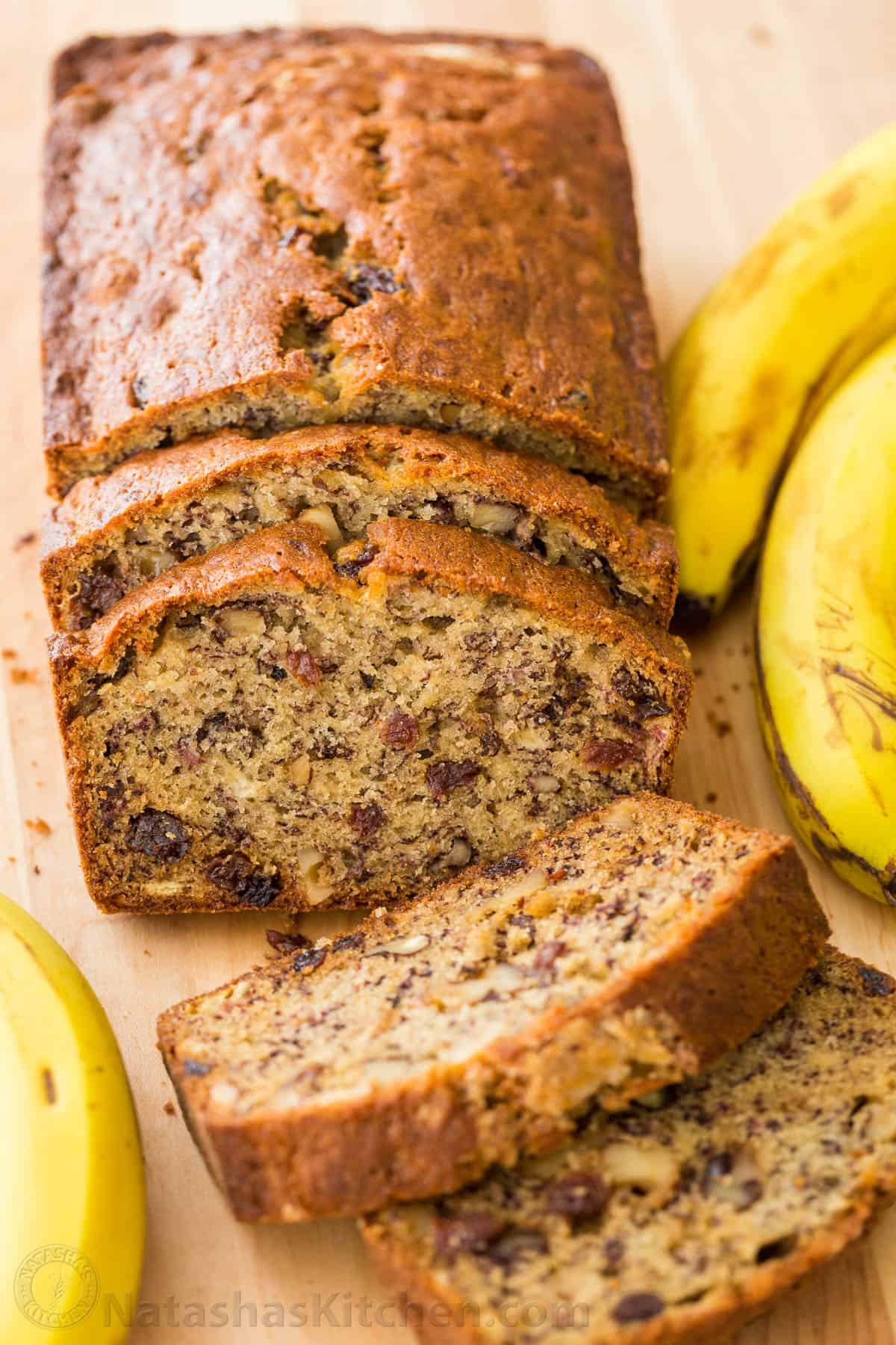 Banana Bread Ingredients  Banana Bread Recipe VIDEO NatashasKitchen