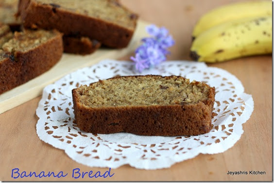 Banana Bread No Eggs  EGGLESS BANANA BREAD – NO EGG NO BUTTER BREAD RECIPE