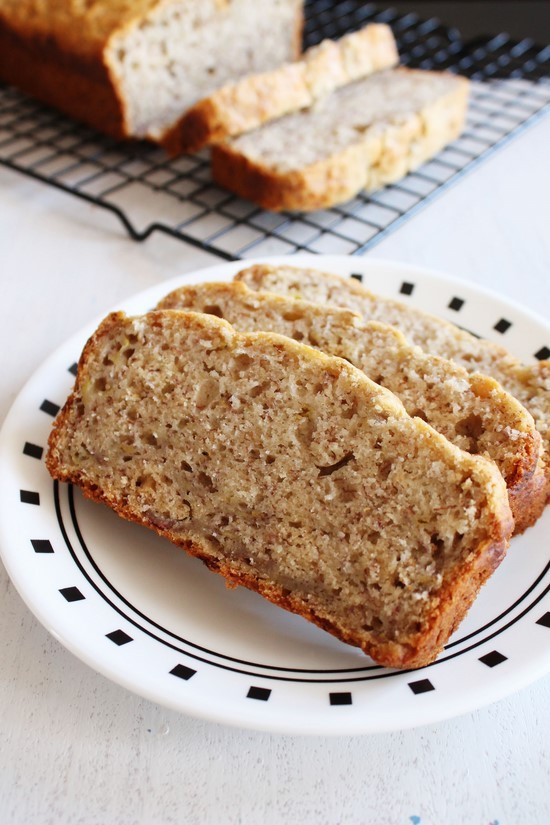 Banana Bread No Eggs  Eggless banana bread recipe Vegan banana bread recipe