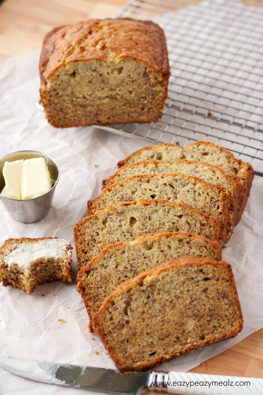 Banana Bread Recipe  Super Simple Banana Bread Eazy Peazy Mealz