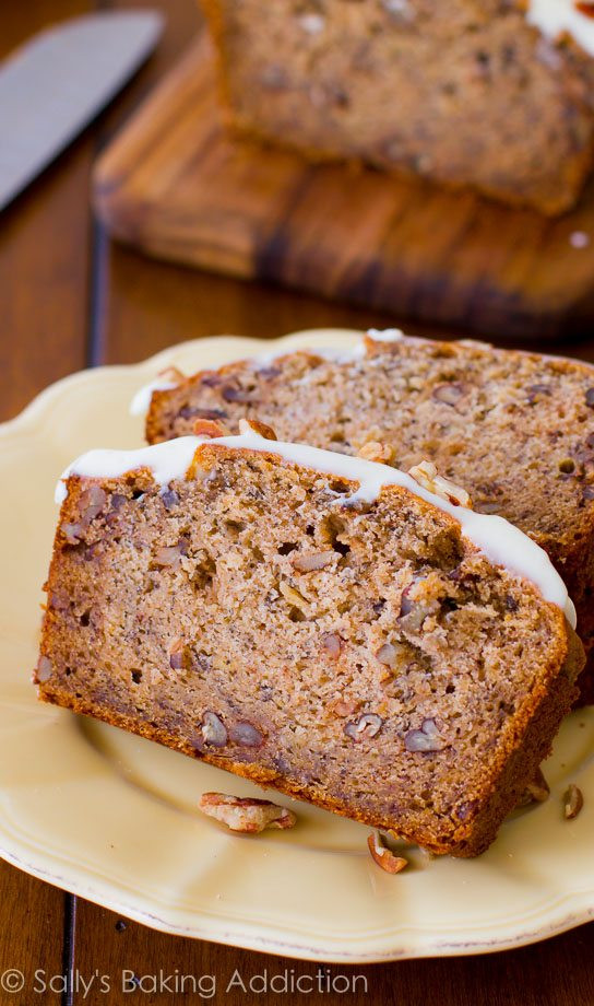 Banana Bread Recipe With Brown Sugar  Best Ever Banana Bread with Cream Cheese Frosting Sallys