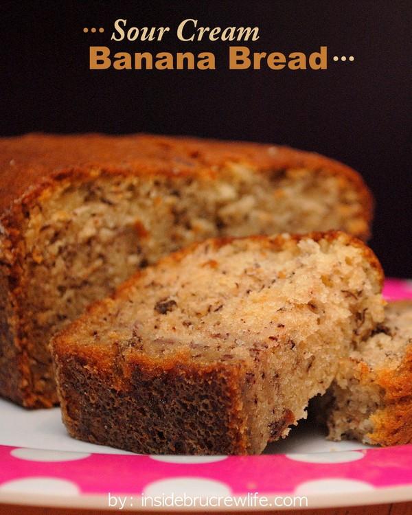 Banana Bread Recipe With Sour Cream  Banana Bread Bites