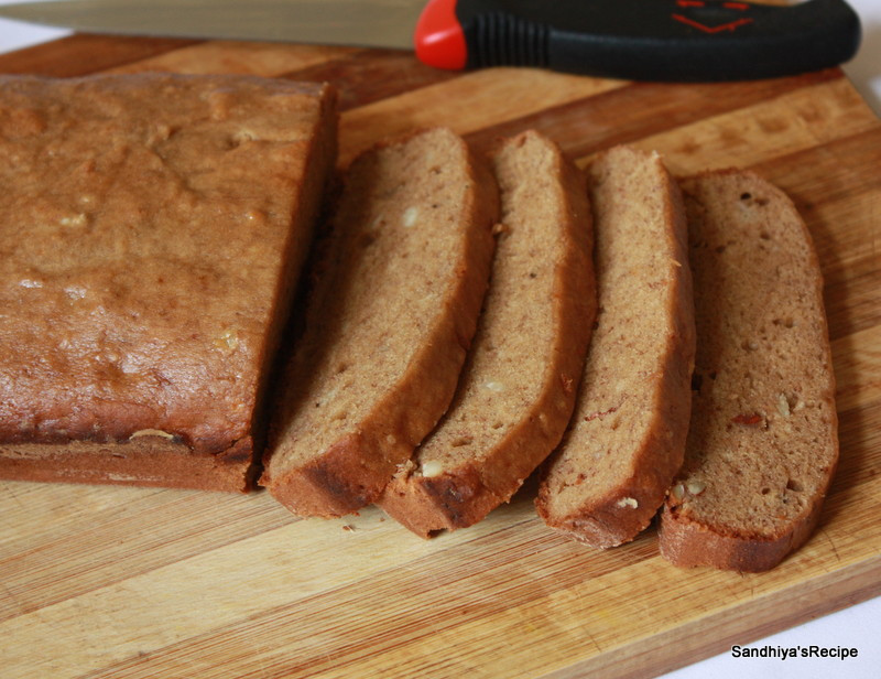 Banana Bread Recipe Without Eggs  Sandhiya s Cookbook Banana Bread without egg & butter