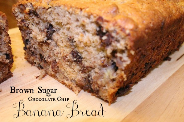 Banana Bread With Brown Sugar  Brown Sugar Chocolate Chip Banana Bread Recipe