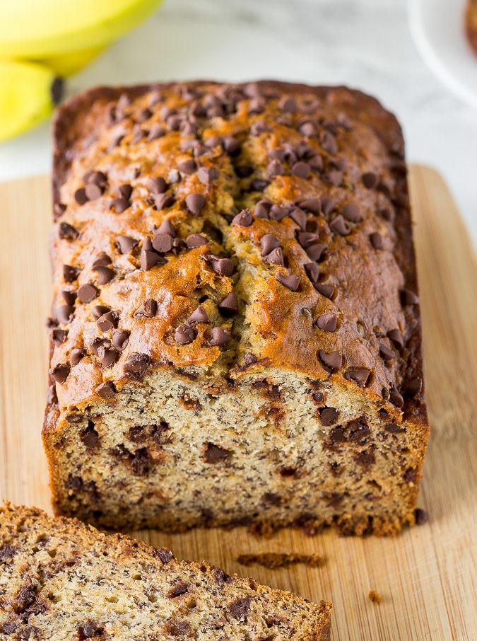 Banana Bread With Chocolate Chips  chocolate chip banana bread recipe