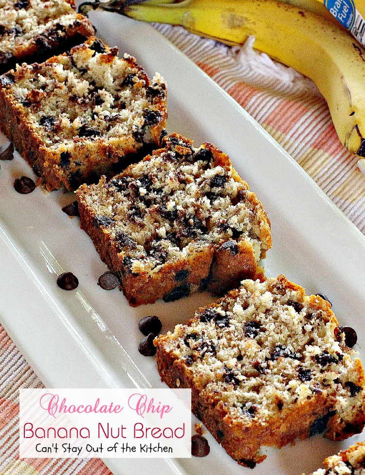 Banana Bread With Chocolate Chips  Chocolate Chip Banana Nut Bread Can t Stay Out of the