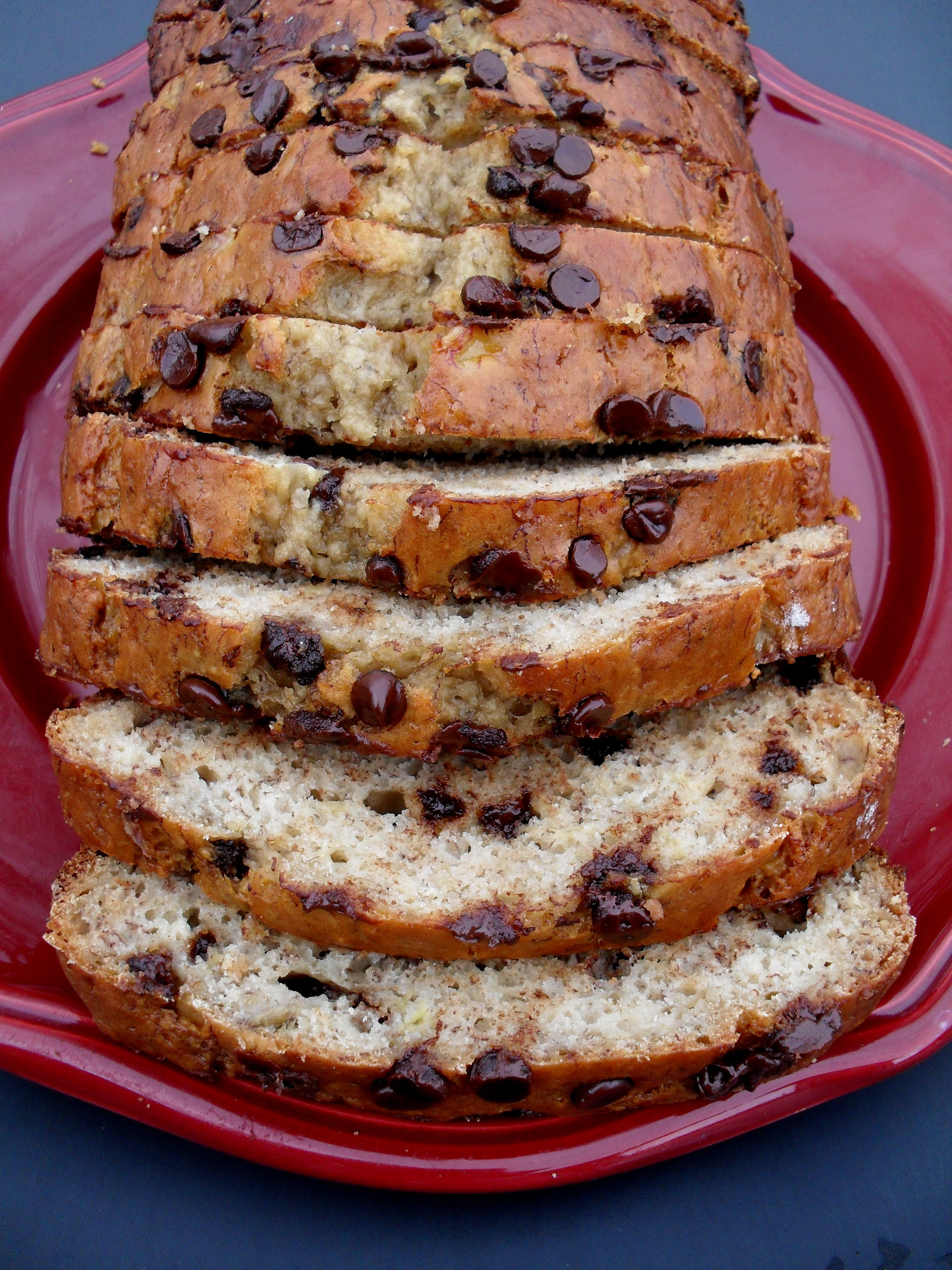 Banana Bread With Chocolate Chips  Chocolate Chip Banana Bread Low Fat Low Sugar