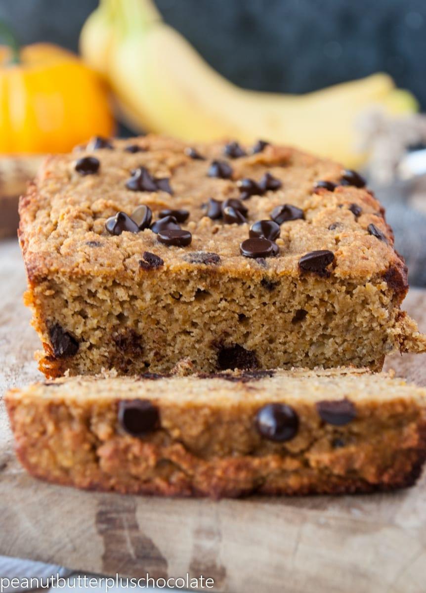 Banana Bread With Chocolate Chips  Paleo Pumpkin Chocolate Chip Banana Bread — Peanut Butter