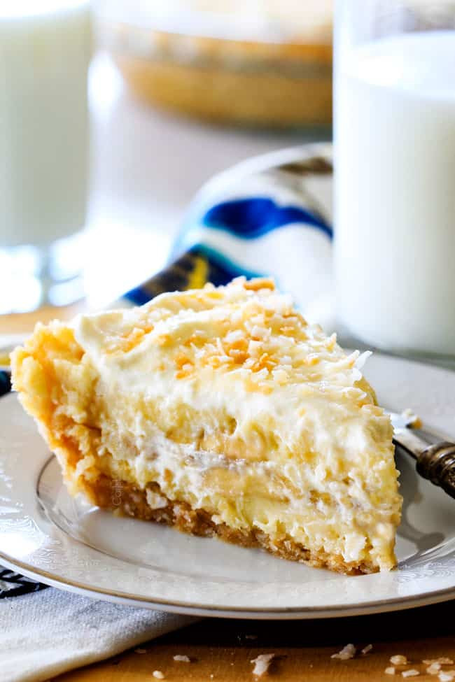Banana Coconut Cream Pie  Banana Coconut Cream Pie with Coconut Whipped Cream