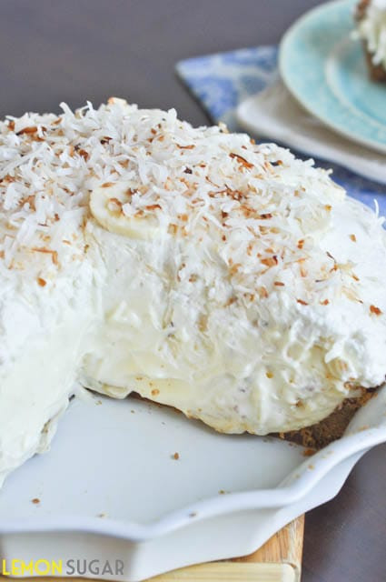 Banana Coconut Cream Pie  Vanilla Coconut Banana Cream Pie Lemon Sugar