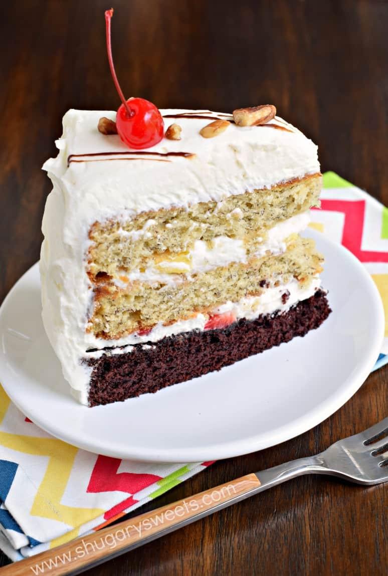 Banana Cream Cake  Banana Split Cake Shugary Sweets