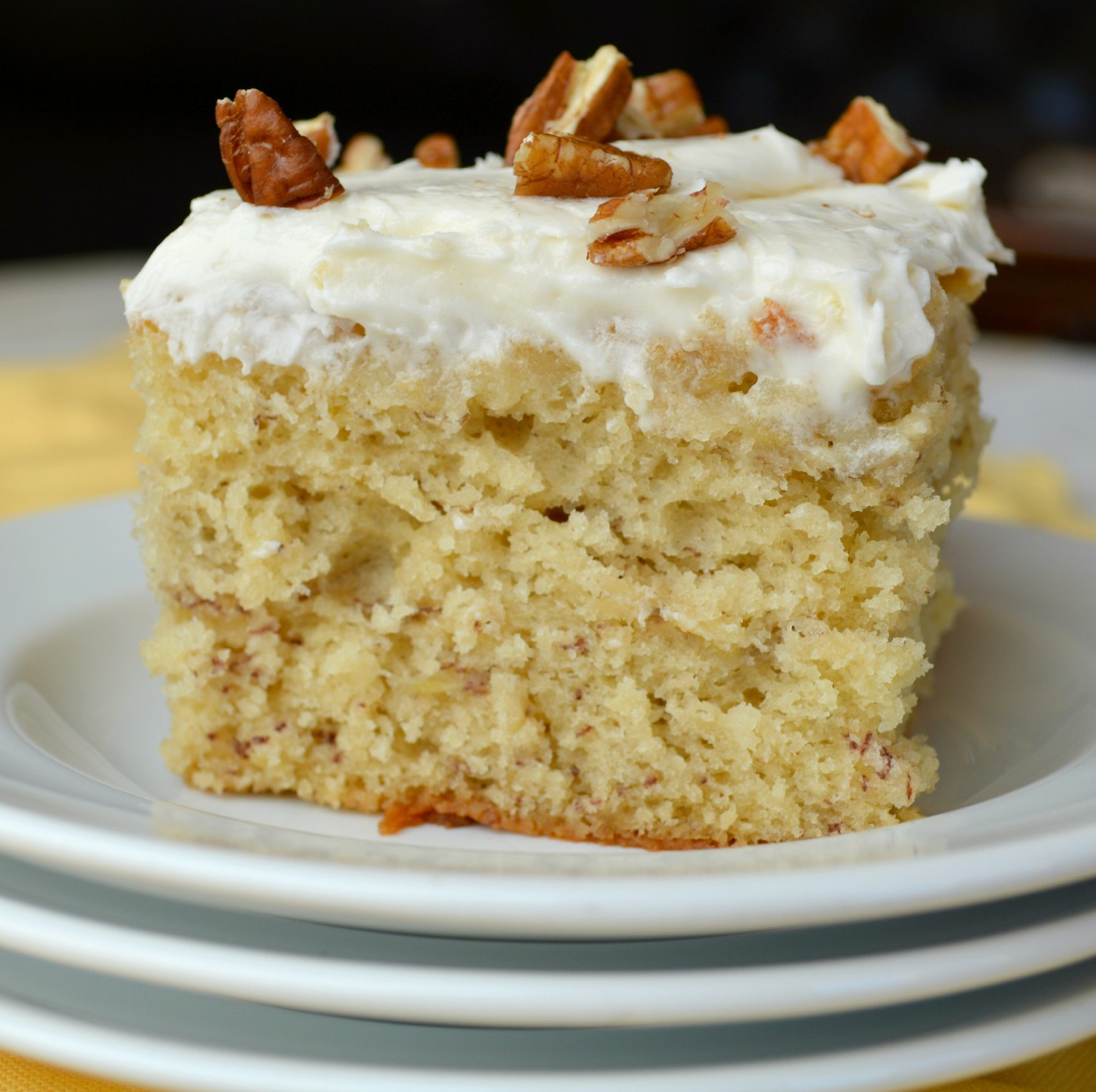 Banana Cream Cake  Banana Cake with Cream Cheese Frosting Gonna Want Seconds