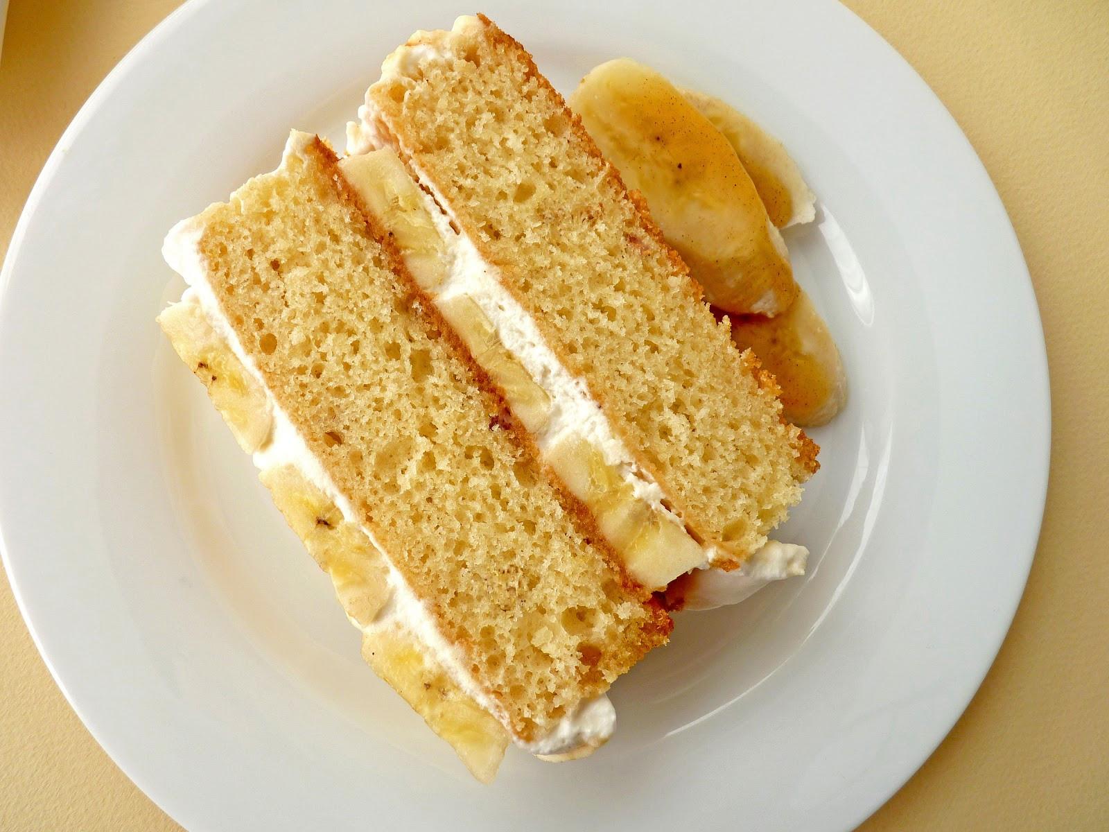 Banana Cream Cake  pastry studio Banana Cream Cake with Cinnamon Caramel Syrup
