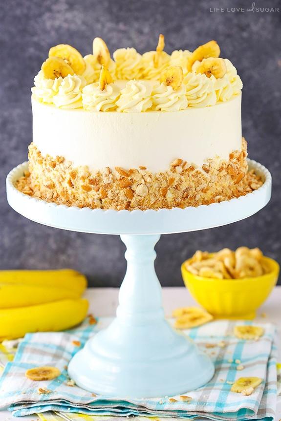 Banana Cream Cake  Banana Pudding Ice Cream Cake Life Love and Sugar