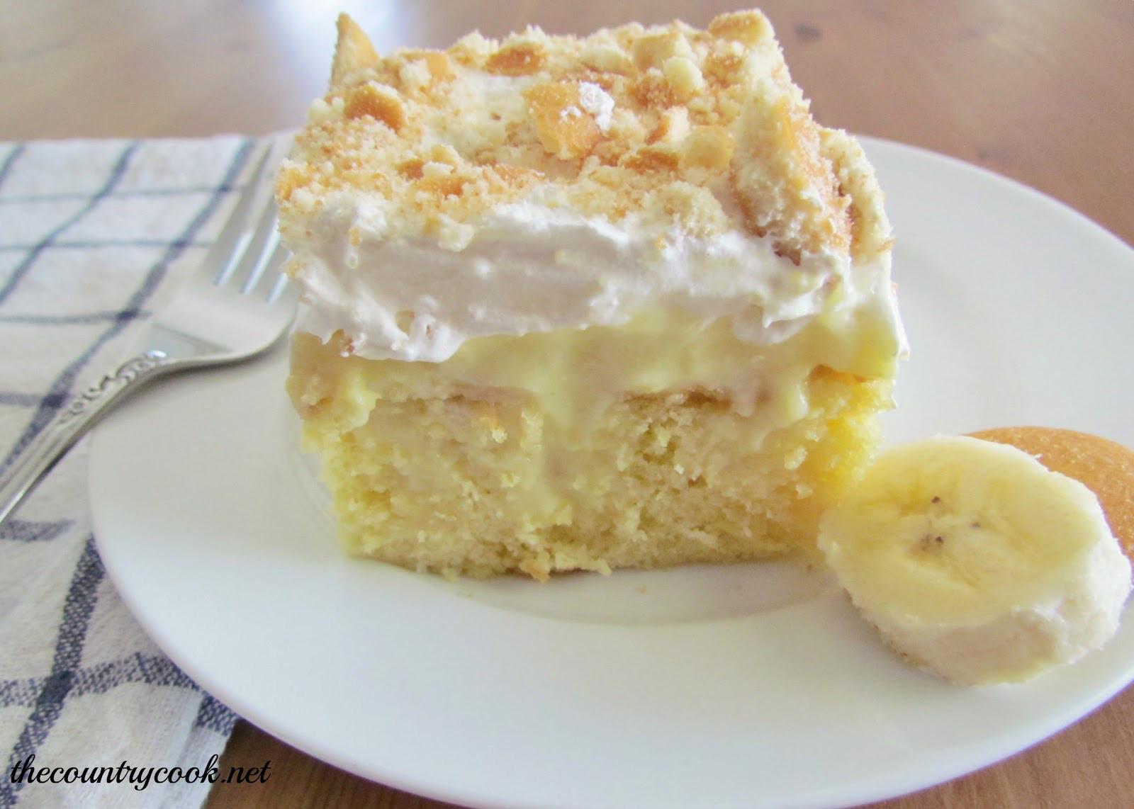 Banana Cream Cake  Something Sweet Banana Cream Cake Recipe The Trent