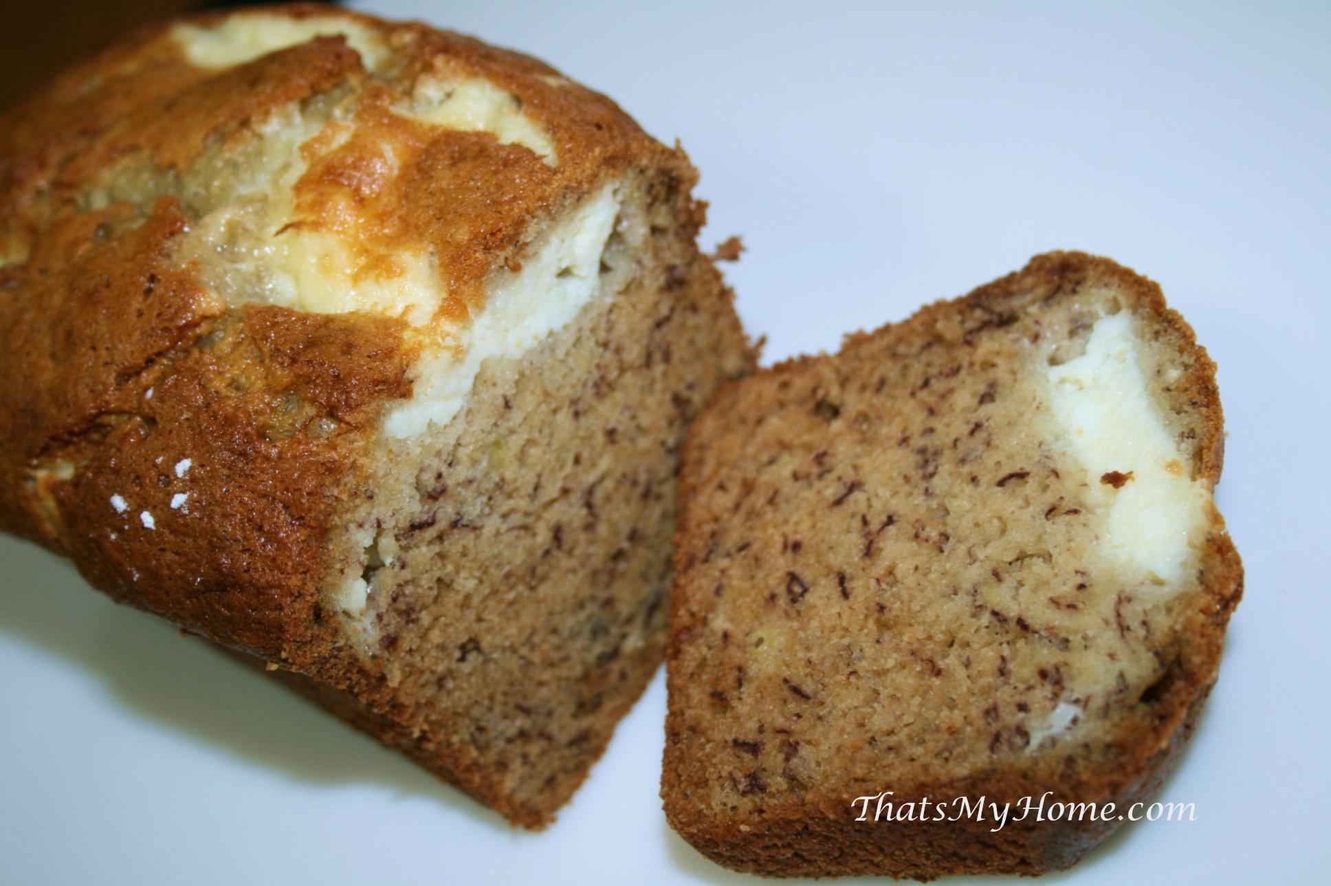 Banana Cream Cheese Bread  Banana Cream Cheese Bread Recipes Food and Cooking